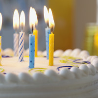 Birthday cake --- Image by © Kate Kunz/Corbis
